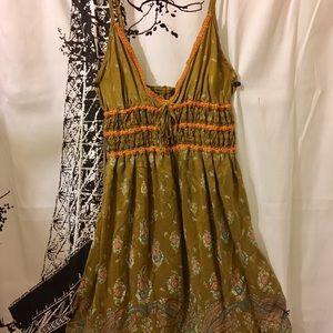 Free People 100% Silk Slip Dress Paisley Pattern